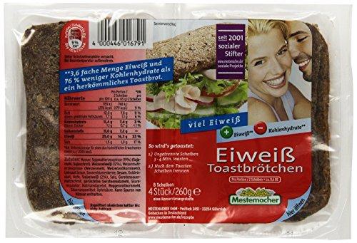 Mestemacher Eiweiß Toastbrötchen , 6er Pack (8 Scheiben /260 g)