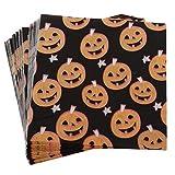 FLAMEER 20pcs Happy Zucca di Halloween Tovagliolo di Carta Tovaglietta Monouso Tovaglietta da Tavola