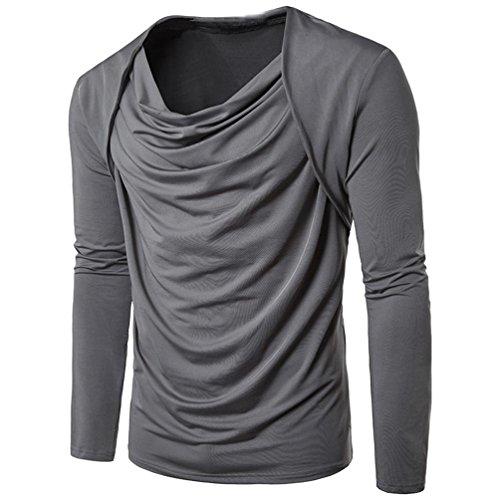 Heiß Verkauf ! Kobay Herren Mode Persönlichkeit Männer Baumwolle Casual Slim langärmelige Shirt Top Bluse
