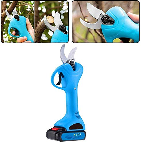 Big Save! Professional Cordless Electric Pruning Shears with 2 Pack Backup Rechargeable 2Ah Lithium ...
