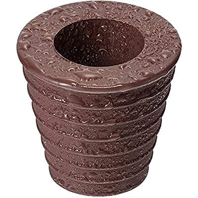 """Umbrella Cone and Wedge Parasol Base Stand 1.5"""" Diameter Patio Table Hole Ring Plug Fits for Outdoor Patio Umbrella (1, Dark Brown)"""