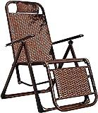 Sillas de Camping Portátiles, Silla Plegable reclinable Tumbona con Ajustable for la Playa Patio jardín Camping al Aire Libre, Silla Plegable Ligera
