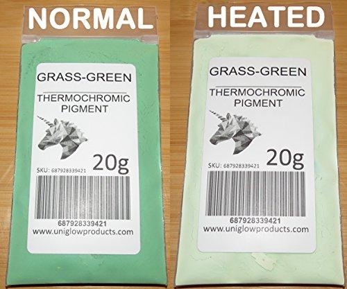 UniGlow ThermoChromatic Pigment (5g, Grass Green)