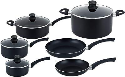 Hells Kitchen 10 Piece Ultimate Cookware Set - Pots and Pans - 10 Piece Cookware Set