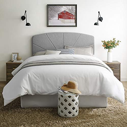 Classic Brands Blackmoor Light Grey Starburst Upholstered Wood Light, Full