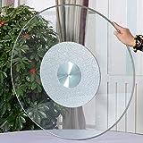 WQSQ 60cm Bandeja Giratoria Redonda Plato Giratorio para Mesa De Comedor Lazy Susan De Vidrio Templado Plato para Servir con Base Metálica Silenciosa