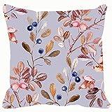 Funda de almohada para cojín con diseño de flores de color rosa y espino, diseño floral de las artes y la naturaleza, de 45,7 x 45,7 cm