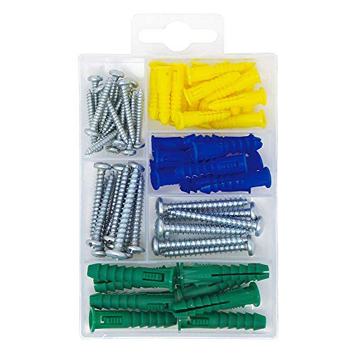 Self Tapping Screws for Metal Wall Anchors for Drywall Heavy Plastic Self-Drywall Anchors with 304 Stainless Steel Tapping Screws Kit 60 PCS Wall Anchors Kit of 30 30 Anchors+30 Screws