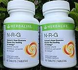 Herbalife NRG (Nature's Raw Guaraná) comprimidos 2-Pack Combo 60 comprimidos por botella