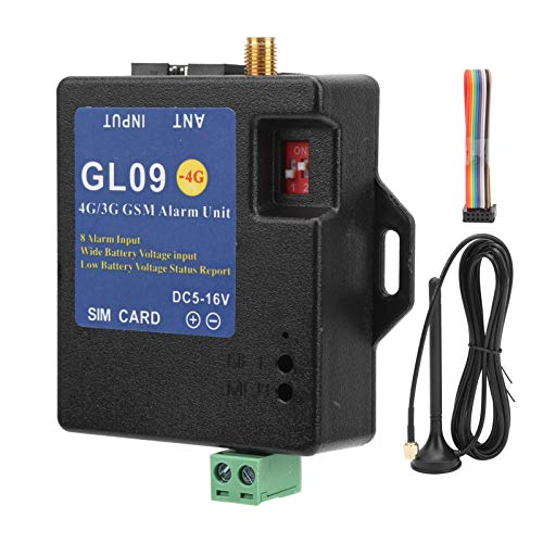 Dioche 4G/3G/GSM Alarm System, GL09 4G/3G/ GSM 8CH Alarm Security System Alert Module 8‑Channel Input Low Consumption for Home Garage Warehouse Security(US)