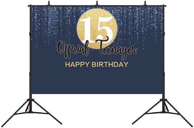 Bellimas Official Teenager 13th Birthday Backdrop Happy Birthday Kids 13 Navy Night Birthday Celebration Cake Table Photography Studio Background Decorations 6x4ft