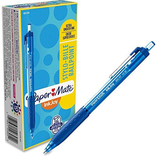 Paper Mate 1951259 InkJoy 300 RT Retractable Ballpoint Pen, 1mm, Blue, Dozen