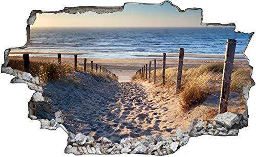 Fotografie Nordsee Strand Sonne Wandtattoo Wandsticker Wandaufkleber C1676 Größe 60 cm x 90 cm