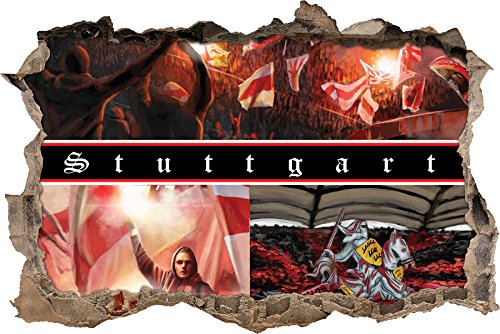 Ultras StuttgartCollage, 3D Wandsticker Format: 92x62cm, Wanddekoration