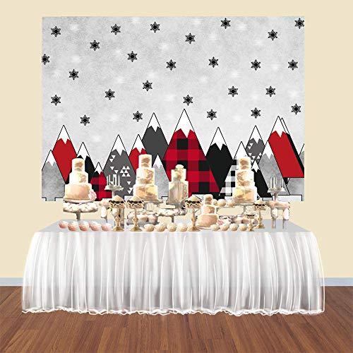 Fotografie Hintergrund Weihnachten Foto Kabine Hintergrund Weihnachten Party Event Dekoration Buffalo Plaid Kiefer Schneeflocke Neugeborene Stütze 2.1x1.5m