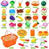 DigHeath 34 Pezzi Taglio Frutta e Finti Alimenti, Tagliare i Giocattoli, Giocattoli di Plastica per Tagliare Frutta, Gioco di Ruolo Piccolo Cuoco per Bambini, Giocattolo Educativo Prima Infanzia #1