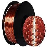 GIANTARM Filamento PLA 1.75mm Silk Rame, Stampante 3D PLA Filamento 1kg Spool