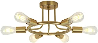 BONLICHT 6 Lights Semi Flush Mount Ceiling Light Brushed...