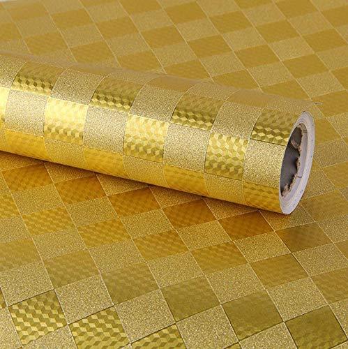 sknonr 45 cm breite Gold und Silber blinkend Gold Selbstklebende tapete, Hintergrund Film und Fernseher selbst Aufkleber möbel Film (Color : C, Size : 10 Meters)