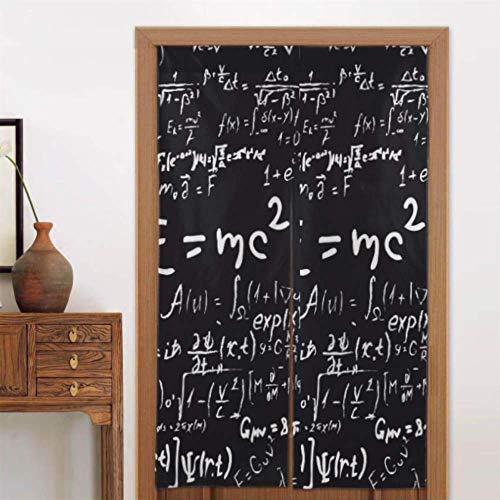 Formule e calcoli per tende in legno da 34 x 56 pollici (86x143 cm) e calcoli in fisica e matematica per bambini Tende per camera da letto Tende oscuranti per camera da letto Tipo lungo per la decora