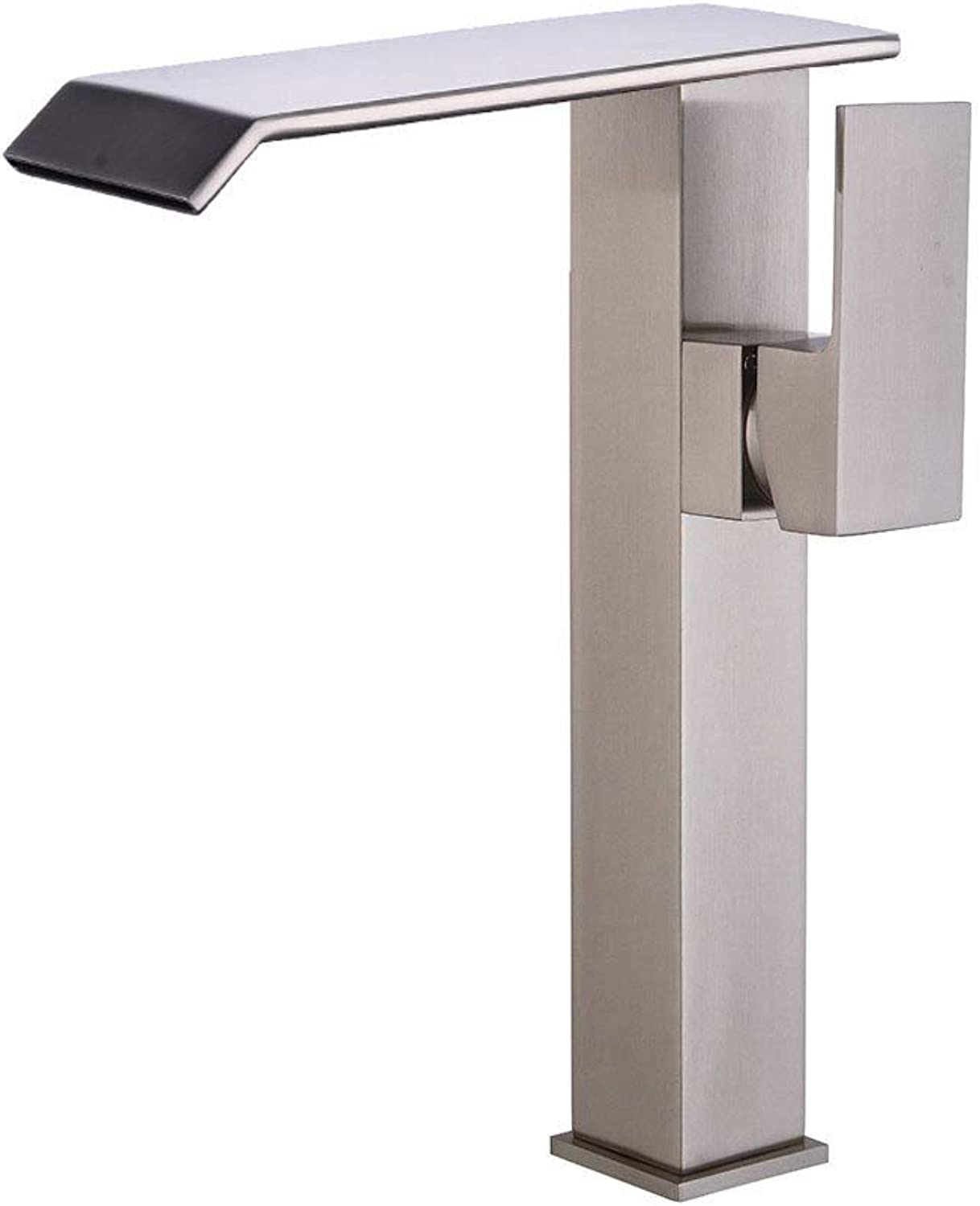 Ywqwdae Taps Kitchen Taps Basin Faucets Cold and Hot Water Mixer Bathroom Mixer Basin Mixer Tap Waterfall Hot and Cold Retro High for Kitchen Or Bathroom Taps (color   High Section)