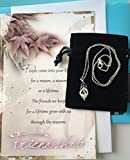 Best Smiling Wisdom Friend Gifts Silvers - Smiling Wisdom - Leaf Pendant Clear Cubic Zirconia Review