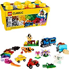 Kids will spend hours engaging in pretend play with this medium-sized building kit. This build your own play toy allows kids to create toy trains or tiger figurines with this classic collection of LEGO bricks in 35 different colors This creative toy ...