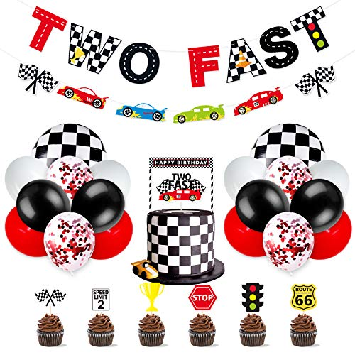 Race Car two Fast party Decoration Supplies
