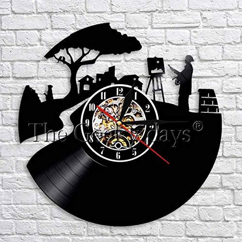 YINU pacífico Pintor Vinilo 3D Reloj de Pared Artista Dibujo Pared Arte decoración diseño Moderno Hecho a Mano Regalo para Artista