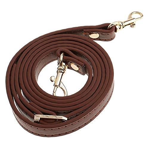 POFET 120cm ajustable DIY bolsa de hombro accesorios bolso maneja correas - marrón, longitud ajustable