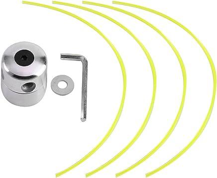 Alluminio testa decespugliatore, testina bobina set con 4linee decespugliatore testa per tagliaerba a benzina decespugliatore