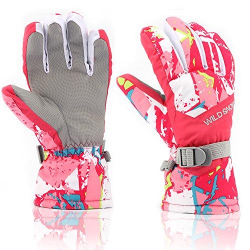 RunRRIn Damen ski-handschuhe, winter warmest wasserdicht und atmungsaktiv schnee handschuhe xl (passend mens\'size) grau-gelb