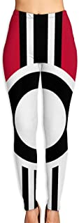 Leggings with Cross and Concentric Circles Flag Yoga Pants Trousers Sweatpants