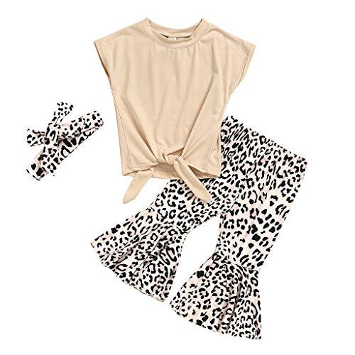Baby Mädchen T Shirts Leopard Ausgestellte Hosen Sommer Mode Outfits