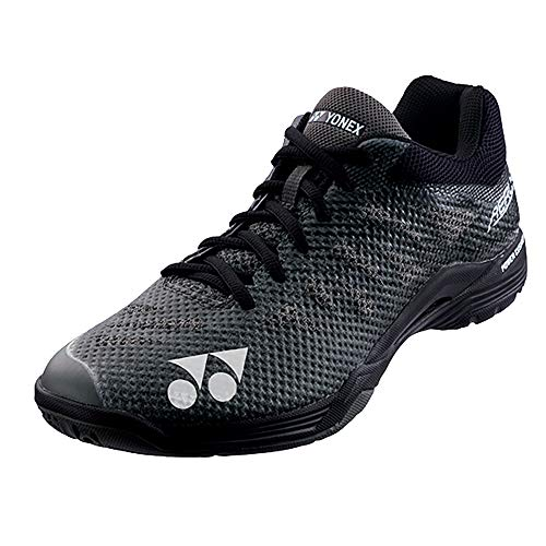 YONEX Power Cushion Aerus 3 Mens Lightweight Indoor Shoes, Black, 10.5