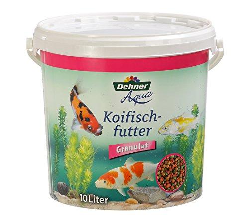 Dehner Aqua Fischfutter, Koifischfutter Granulat, 10 l