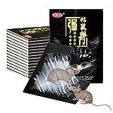 XH Paquete de 10 trampas de Pegamento para Ratones Trampas para Ratones de Interior, Trampas para Ratas para casa para el hogar, almacén, Garaje (Color : Black, Size : 300 * 210mm)