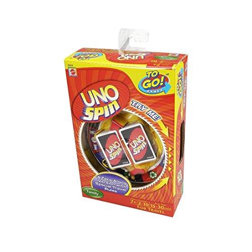 Mattel R2820-0 UNO Spin Compact Jeu de Cartes
