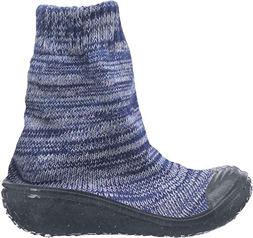 Playshoes Unisex-Kinder Socke gestrickt Hohe Hausschuhe, Blau (Marine 11), 24/25 EU