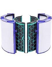 KEEPOW Filter Vervangend Deel Compatibel met Dyson HP04/TP04/DP04 Verzegeld Twee Stage 360° Filter Systeem, Paars