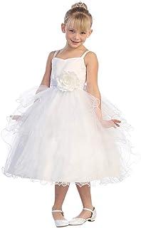 Tip Top Kids DRESS ガールズ カラー: ホワイト