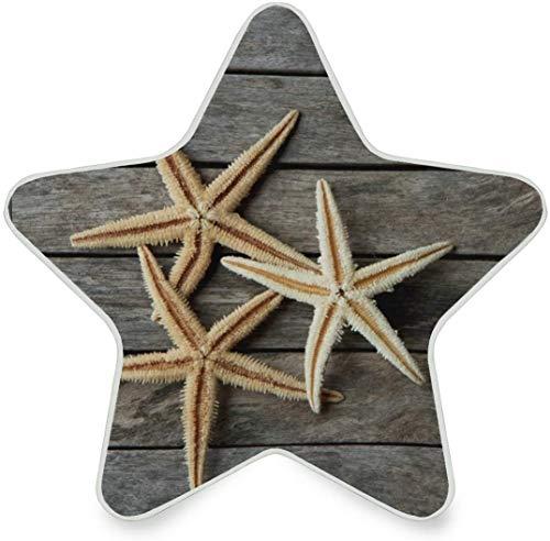 Lámpara de luz nocturna LED con enchufe de madera de estrella de mar con sensor de anochecer a amanecer para pasillo, cocina, baño, dormitorio - Decoración en forma de estrella