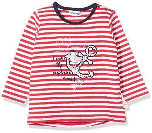 Salt & Pepper Baby-Mädchen 03211201 Langarmshirt, Rot (Lollipop Red 344), (Herstellergröße: 86)