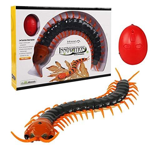 XIAOKEKE RC Centipede, 1PC ABS Control Remoto por Infrarrojos Falso Ciempiés Scolopendra RC Juguetes para Regalos por Encima De 6 Años,B