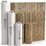 Maxpa valla bambú natural decorativa y ocultación (300 x 100 cm)