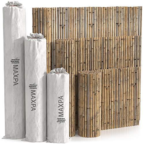 MAXPA Valla Bambú Natural decorativa y ocultación (300 x 150 cm)