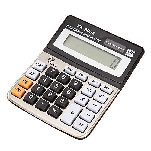 HO-TBO Wetenschappelijke rekenmachine, kantoorbenodigdheden, computer-desktop, elektronische rekenmachine voor boeken, business-kantoorscholen, rekenen, zwart met wit, ideaal gereedschap voor het tellen