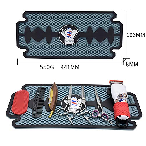Barber Work Station Mat Clippers Mats Flexible PVC Heavy Duty Antiskid Bar Service Mat Cushion, Resistant Resistant Pad Tools for Styling Hair Dryers Hair Trimmers