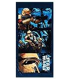 Star Wars Oficial 100% algodón toallas de playa Baño, Gimnasio, Natación para Niños niñas