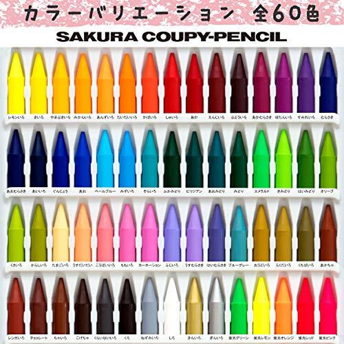 サクラクレパス色鉛筆クーピー60色缶ケース入りFY60